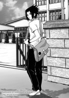 Sasuke_ Go to school by anammi