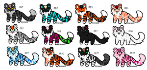 Free Adoptables batch 113 by Kitty-of-Doom524