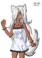 Fenrir in dress coloured by TenshiHoshino