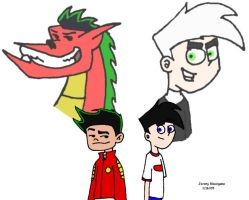 Jake Long and Danny Fenton by Kineticboy2001