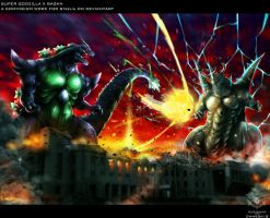 SUPER GODZILLA VS BAGAN by OHMEGA18