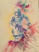 Trooper,2017,watercolour,297x420mm by Maria-the-artist