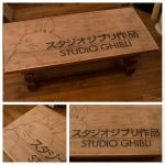 Ghibli - Table pyrography by StudioTamago