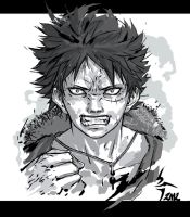 Angry angry angry Luffy by Shiroho-Art
