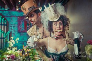 The Mad Hatter and The White Rabbit Uncorked by StarForeman