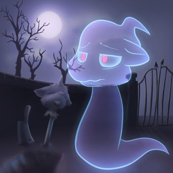 [spoopy] A Bit ghost by Bitcoon
