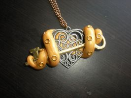 Tentacle Key Heart Charm by Oriana-X-Myst