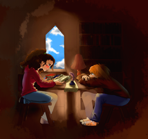 Ron and Hermione. by Anny96