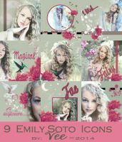 9 Emily Soto Icons by Vee-Deviant
