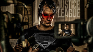 Henry Cavill Superman Black suit Justice League  by Spider-maguire