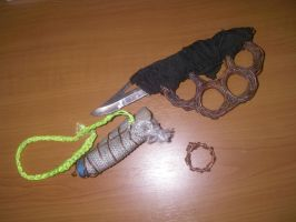 Copper trench Knife and ring. by MrAxiom