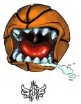 Angry Basketball t shirt by FATRATKING
