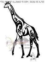 Tribal giraffe by Arixona