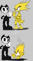 Bendy Meets Bendy by DeathPuppy9000