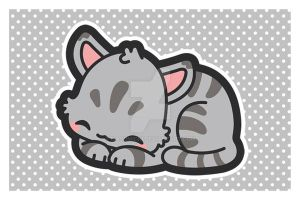 Sleepy Kitty Postcard by MasumiChi