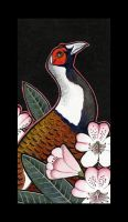 Elliot's Pheasant And Rhododendron by Ravenari