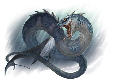 Sea Serpent by Pechschwinge