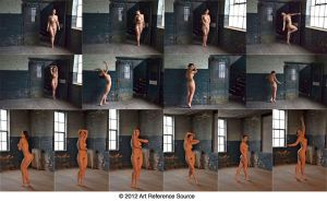 Anastasia 14 artistic nudes in warehouse Stock by ArtReferenceSource
