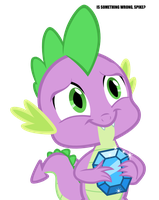 Spike's gift by AbrotherM