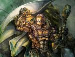 Warforged Warden.  Dungeons and Dragons by dreamflux1