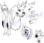 Cartoon Unicorn Satyr Monster with Tailheads by Skull-gum