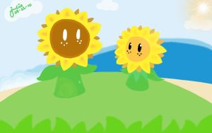 Great Sunflower and Kid by joo-lee