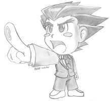 Ace Attorney - Chibi Phoenix by Protossgp32