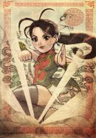 Kung fu Wu shu girl rocks by ARMYCOM