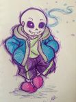 Sans fan-draw style: Frostious~ by embercl