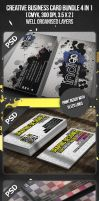 Creative Business Card Bundle 4 in 1 by VadimSoloviev