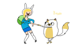 Adventure Time Whit Fionna and Cake by Fluoras