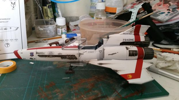 Battlestar Galactica Viper Mark II Model Kit Build by Jeromes-Art