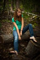Teenage girl forest stock by thisgirlhasissues