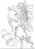 Lineart: Rose Bride by autome