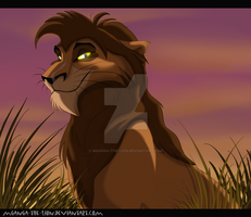 Tay, Zira's brother by Mganga-The-Lion
