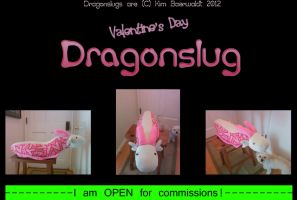 SOLD Valentine's Day Dragonslug v.2 SOLD by SPPlushies