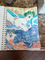 Haku and Howl by Legend-of-Yaoi