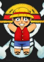 Chibi Luffy - Love me by Wings-chan