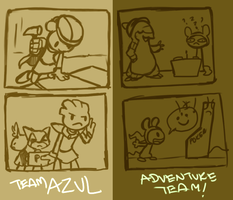 PMD - July Task - Team AZUL + Adventure Team! by nyausi