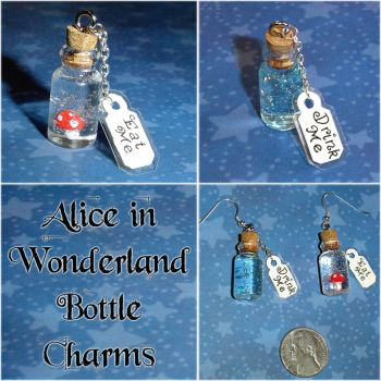 Alice in Wonderland Charms - Eat Me and Drink Me by YellerCrakka