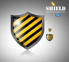 Shield Icon PSD by atifarshad