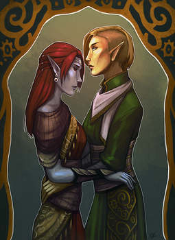 Commission - Merrill and Talsi by Serpentwined