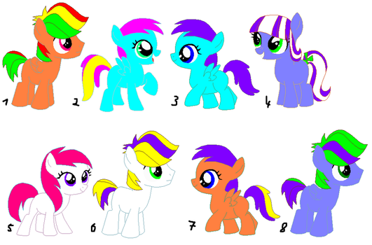 My Little Pony Adoptables 2 OPEN by Raainbowdash234