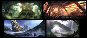 Environment thumbnails by eddie-mendoza