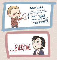 Sherlock - phone bills by L-word