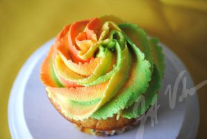 Rainbow Sherbet Cupcake 1 by oldschoolair