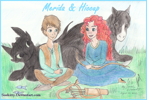 Merida and Hiccup by Suekitty