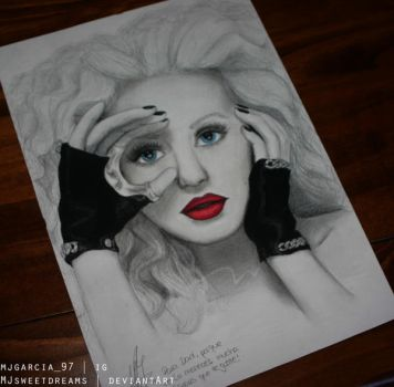 Christina Aguilera finished. by MJSweetDreams