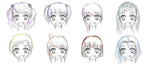 F. Hairstyles -mixed- by T-O-S-S