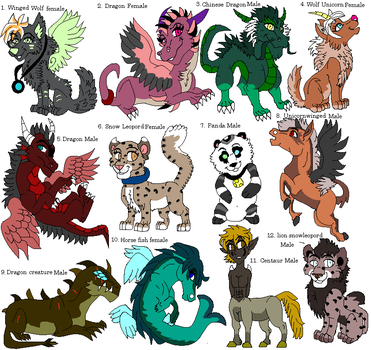 New Adopts 4 by dragonrace